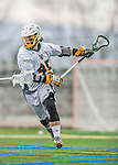 18 April 2015:  University of Vermont Catamount Midfielder Ian MacKay, a Sophomore from Port Elgin, Ontario, in action against the University of Hartford Hawks at Virtue Field in Burlington, Vermont. The Cats defeated the Hawks 14-11 in the final home game of the 2015 season. Mandatory Credit: Ed Wolfstein Photo *** RAW (NEF) Image File Available ***