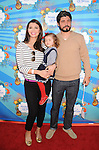 SANTA MONICA, CA. - March 14: Ali Landry, daughter Estela Monteverd and husband Alejandro Gomez Monteverde attend the Make-A-Wish Foundation's Day of Fun hosted by Kevin & Steffiana James held at Santa Monica Pier on March 14, 2010 in Santa Monica, California.