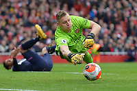Bernd Leno of Arsenal FC makes a save during Arsenal vs West Ham United, Premier League Football at the Emirates Stadium on 7th March 2020