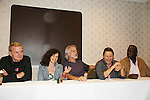 Thomas G. Waites, Deborah Van Valkenburgh, Michael Beck, Terry Michos and Dorsey Wright - The Warriors - 30 years reunion during Q & A at the Super Megashow & Comic Fest on August 30, 2009 in Secaucus, New Jersey (Photo by Sue Coflin/Max Photos)
