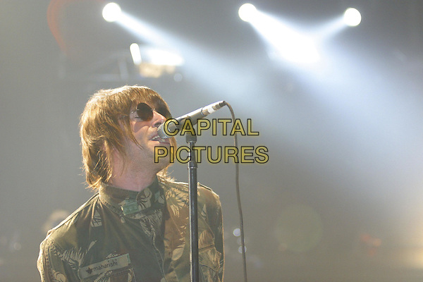 OASIS - LIAM GALLAGHER.Live In Germany.live, concert, stage, army jacket, headshot, portrait, sunglasses, shades, singing.Ref: F2F.www.capitalpictures.com.sales@capitalpictures.com.© Capital Pictures