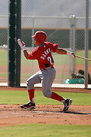 Tucker Barnhart - Cincinnati Reds 2009 Instructional League. .Photo by:  Bill Mitchell/Four Seam Images..