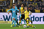01.12.2018, Signal Iduna Park, Dortmund, GER, DFL, BL, Borussia Dortmund vs SC Freiburg, DFL regulations prohibit any use of photographs as image sequences and/or quasi-video<br /> <br /> im Bild v. li. im Zweikampf Luca Waldschmidt (#11, SC Freiburg) Marco Reus (#11, Borussia Dortmund) <br /> <br /> Foto © nordphoto/Mauelshagen