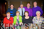 Enjoying a great night at the CUH Benifit Dance in the Ring of Kerry Hotel on Monday night were front l-r; Mary O'Mahony, Mary McAllen, Mary O'Donoghue, Joan Barrett, back l-r; John Joe O'Mahony, Coleman Barrett, Pat McAllen & Joe O'Donoghue.
