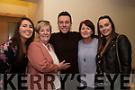 At the Nathan Carter concert in Glenbeigh Sports Hall on Friday evening<br /> Front L-R Tanya Doyle, Nancy Coffey, Nathan Carter, Katie Joy, Michelle Ryan,