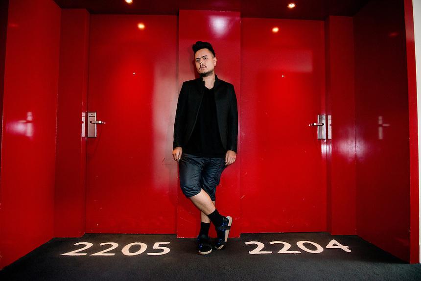 Diego Zuñiga, clothing designer, W Hotel, Polanco, Mexico City