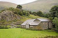 Farmhouse near Thirlmere Lake, Lake District, England.