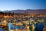 The boat harbor in Santa Barbara