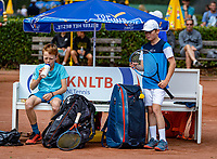Hilversum, Netherlands, Juli 31, 2019, Tulip Tennis center, National Junior Tennis Championships 12 and 14 years, NJK, Boys Doubles: Tijl Forger (NED) and Maurits Tukker (NED)<br /> Photo: Tennisimages/Henk Koster