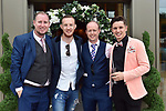 Kieran Fleming, Mike Beckhill, Patrick Mannix and Tadhg Fleming  pictured at the Killarney Apres Races party in The Brehon Hotel, Killarney on Thursday night.<br /> Photo: Don MacMonagle<br /> <br /> repro free photo<br /> further info: Aoife O'Donoghue aoife.odonoghue@gleneaglehotel.com