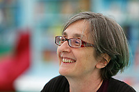 Pictured: Helen Pankhurst in the book shop.<br /> Re: Hay Festival at Hay on Wye, Powys, Wales, UK. Friday 25 May 2018