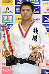 Hifumi Abe,<br /> September 13, 2014 - Judo : <br /> All Japan Juior Judo Championships <br /> Men's -66kg Victory Ceremony<br /> at Saitama Kenritsu Budokan, Saitama, Japan. <br /> (Photo by Shingo Ito/AFLO SPORT) [1195]