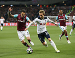 West Ham's Jose Fonte tussles with Tottenham's Christian Eriksen during the Premier League match at the London Stadium, London. Picture date: May 5th, 2017. Pic credit should read: David Klein/Sportimage