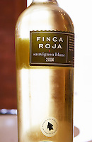 bottle of Finca Roja Sauvignon Blanc Bodega Del Anelo Winery, also called Finca Roja, Anelo Region, Neuquen, Patagonia, Argentina, South America