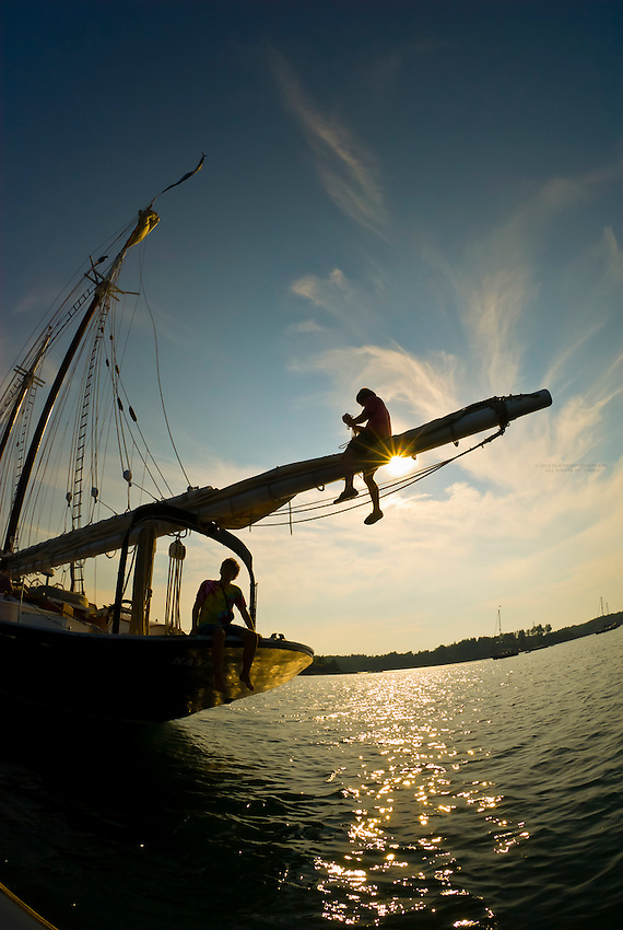 Schooner Nathaniel Bowditch, Pulpit harbor, Maine USA