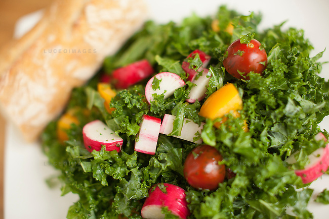 Kale Salad prepared by Kristen Beddard, 29, of The Kale Project, in Paris, France.  Kevin German / Luceo