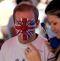 Face painting of an Andy Murray fan at Melbourne Park..International Tennis - Australian Open Tennis -  Tues 26  Jan 2010 - Melbourne Park - Melbourne - Australia ..© Frey - AMN Images, 1st Floor, Barry House, 20-22 Worple Road, London, SW19 4DH.Tel - +44 20 8947 0100.mfrey@advantagemedianet.com