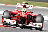 12.05.2012. Circuit de Catalunya, Montmeol, Spain, One the 3rd Practice Session. Picture show  Felipe Massa (Brazisialn driver of Ferrari)