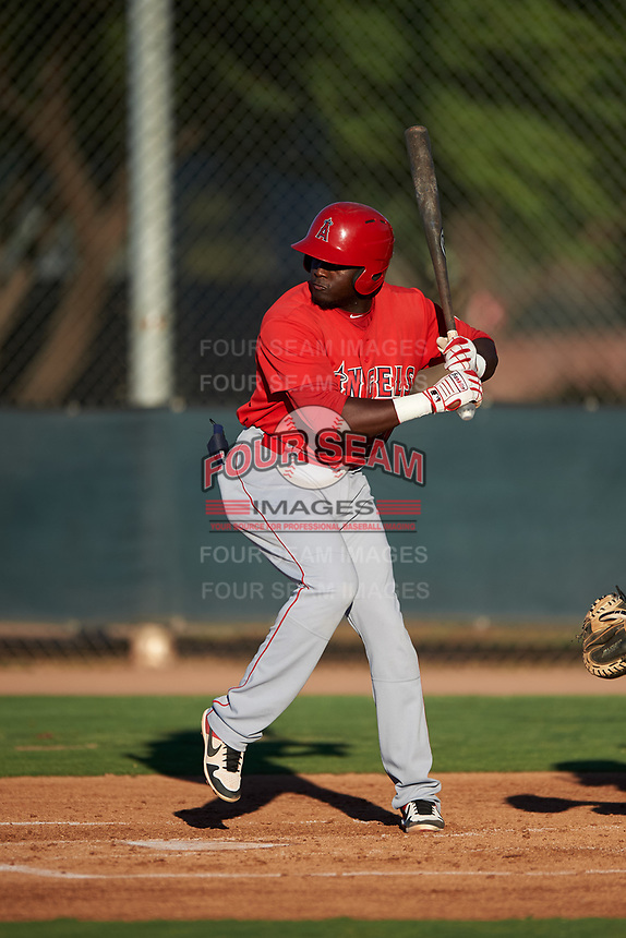 AZL Angels Cristian Gomez (37) at bat during an Arizona League game against the AZL D-backs on July 20, 2019 at Salt River Fields at Talking Stick in Scottsdale, Arizona. The AZL Angels defeated the AZL D-backs 11-4. (Zachary Lucy/Four Seam Images)