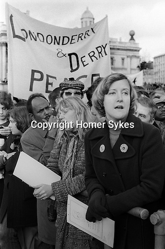 Peace Movement. Peace People. Peace March, Trafalgar Square rally. 1976