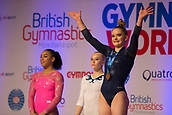 22nd March 2018, Arena Birmingham, Birmingham, England; Gymnastics World Cup, day two, womens competition;  Alice Kinsella (GBR) waving to the supporters after receiving her Bronze Medal