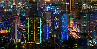 Bangkok city at night, Thailand