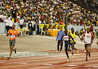 Darvis Patton(646) winning the 200m in a time of 20.49sec at the  Jamaica International Invitational Meet on May 2nd. 2009. Photo by Errol Anderson, The Sporting Image.net