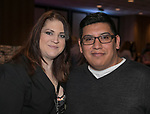 Kayla and Raul Monroy during the Nevada Humane Society's 3rd  annual Heels & Hounds event at the Atlantis Resort and Spa in Reno on April 9, 2017.