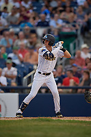 Trenton Thunder Ben Ruta (16) bats during an Eastern League game against the New Hampshire Fisher Cats on August 20, 2019 at Arm & Hammer Park in Trenton, New Jersey.  New Hampshire defeated Trenton 7-2.  (Mike Janes/Four Seam Images)