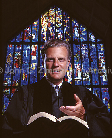 Billy Graham, Preaching a Sermon at St. Andrew's Cathedral, Honolulu, 1963. Photo by John G. Zimmerman.