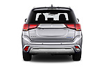 Straight rear view of 2020 Mitsubishi Outlander-PHEV Instyle 5 Door SUV Rear View  stock images