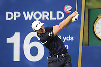Matt Wallace (ENG) on the 16th tee during the 1st round of the DP World Tour Championship, Jumeirah Golf Estates, Dubai, United Arab Emirates. 21/11/2019<br /> Picture: Golffile | Fran Caffrey<br /> <br /> <br /> All photo usage must carry mandatory copyright credit (© Golffile | Fran Caffrey)