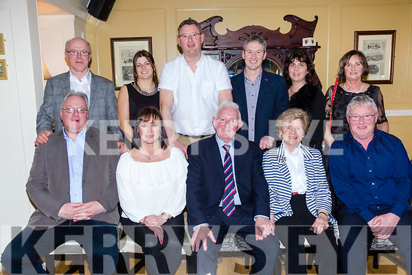 John Murphy, Meadowlands Tralee, celebrates his 80th Birthday with family and friends at the Brogue Inn on Saturday. Pictured front l-r Tony Murphy, Valerie Higgins, John Murphy, Breda Murphy, Sean Murphy Back l-r John Higgins, Clare Murphy, Binny Murphy, Kevin Murphy, Noreen Murphy and Louise Murphy