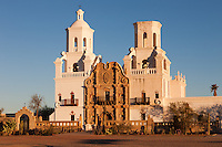 San Xavier del Bac Mission in the Santa Cruz Valley south of Tucson, Arizona.