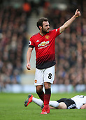 9th February 2019, Craven Cottage, London, England; EPL Premier League football, Fulham versus Manchester United; Juan Mata of Manchester United giving a thumbs up
