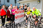 Launching the Castleisland day care centre annual fun and leisure cycle which will be held on 6th of September at 10 o'clock in Castleisland in aid of the Castleisland day care centre. were Front l-r Catriona O'Connor and Tony O'Sullivan. Back l-r Kathleen Griffin, Sr Maureen Keane, Willie O'Connell, Maxie Flemming, Elieen Lane, Maria McCarthy, Monica Prenderville and Penny Dudney
