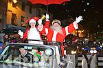 Santa Claus arrives at the Christmas in Killarney parade on Friday night..