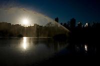 Goiania_GO, Brasil...Lagoa no Bosque dos Buritis na cidade de Goiania...A lake in Bosque dos Buritis in Goiania...Foto: BRUNO MAGALHAES / NITRO