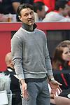 14.04.2018, BayArena, Leverkusen , GER, 1.FBL., Bayer 04 Leverkusen vs. Eintracht Frankfurt<br /> im Bild / picture shows: <br /> Trainer / Headcoach Niko Kovic (Eintracht Frankfurt),  regt sich heftig auf, Gestik, Mimik,   <br /> <br /> <br /> Foto &copy; nordphoto / Meuter