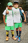 Boys wearing Green School sports wear<br />