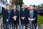 Graduates in Agricultural science  Michael Shanahan, Sean Hayes, Paul McCarthy, Padraig O'Driscoll, at the IT Tralee graduation ceremony at the Brandon hotel, Tralee on Thursday
