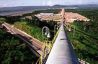 Cia. Vale do Rio Doce. Vista da esteira de rolagem. Serra do Sossego.<br />Canãa dos Carajás-Pará-Brasil<br />Foto: Paulo Santos/ Interfoto<br />Negativo 135 Nº 8501 T2 7 F8a