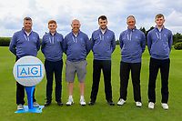 The Galway Team during the Final of the AIG Senior Cup in the AIG Cups & Shields Connacht Finals 2019 in Westport Golf Club, Westport, Co. Mayo on Sunday 11th August 2019.<br /> <br /> Gerry Cox (Team Captain), Ronan Mullarney, Joe Lyons, Stephen Brady, Eddie McCormack and Liam Nolan<br /> <br /> Picture:  Thos Caffrey / www.golffile.ie<br /> <br /> All photos usage must carry mandatory copyright credit (© Golffile | Thos Caffrey)