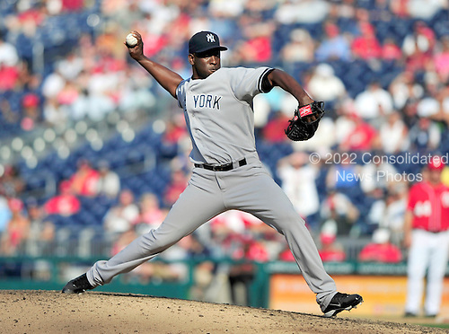 New York Yankees pitcher Rafael Soriano (29) works in the 14th inning against the Washington Nationals at Nationals Park in Washington, D.C. on Saturday, June 16, 2012.  The Yankees won the game in 14 innings 5 - 3..Credit: Ron Sachs / CNP.(RESTRICTION: NO New York or New Jersey Newspapers or newspapers within a 75 mile radius of New York City)