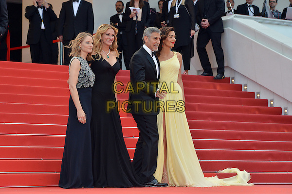 Jodie Forster, Julia Roberts, George Clooney and his wife Amal at the &acute;Money Monster` screening during The 69th Annual Cannes Film Festival on May 12, 2016 in Cannes, France.<br /> CAP/LAF<br /> &copy;Lafitte/Capital Pictures