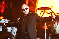 05/12/12 Carson, CA : Pitbull performs during KISS FM's Wango Tango concert held at the Home Depot Center