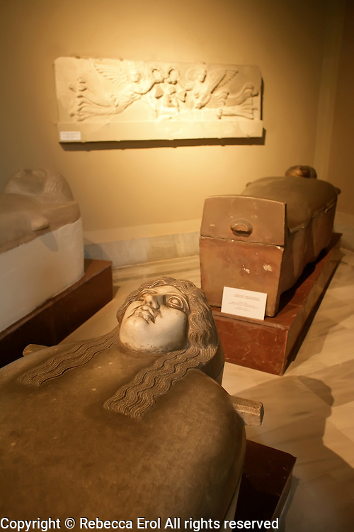 The Archaeological Museum in Istanbul, Turkey: sarcophagi from Sidon (Sayda, Lebanon)