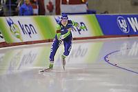 SPEEDSKATING: CALGARY: 15-11-2015, Olympic Oval, ISU World Cup, 500m, Bo van der Werff (NED), ©foto Martin de Jong