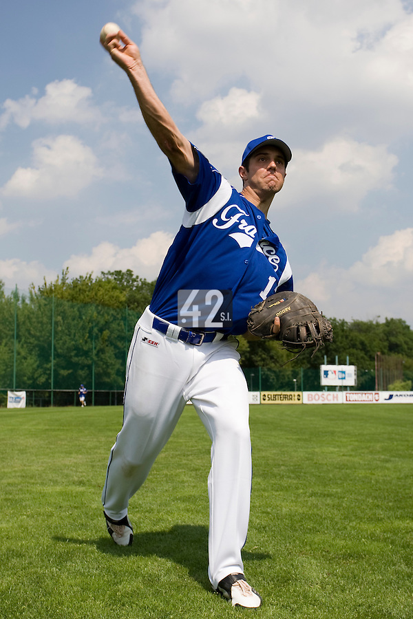 BASEBALL - GREEN ROLLER PARK - PRAGUE (CZECH REPUBLIC) - 24/06/2008 - PHOTO: CHRISTOPHE ELISE.SEBASTIEN BOYER (TEAM FRANCE)