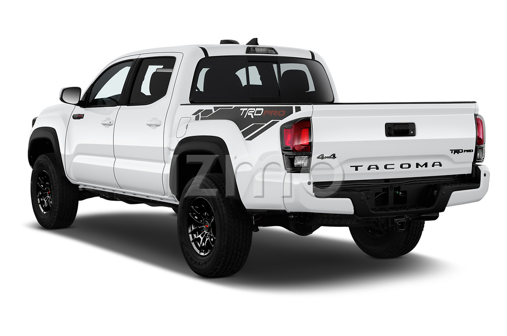 Car pictures of rear three quarter view of 2020 Toyota Tacoma TRD-Pro 4 Door Pick-up Angular Rear